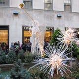 Decoraciones de la Navidad en el centro de Rockefeller. Imágenes de archivo libres de regalías