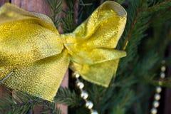 Decoraciones de la Navidad en el fondo del abeto Fotografía de archivo