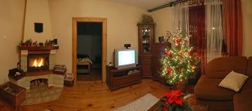 Decoraciones de la Navidad en el país Fotografía de archivo libre de regalías