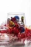 Decoraciones de la Navidad en el tarro de cristal Fotos de archivo libres de regalías
