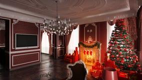 Decoraciones de la Navidad en hogar Foto de archivo