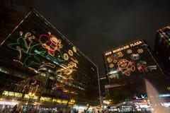 Decoraciones de la Navidad en Hong Kong Imágenes de archivo libres de regalías