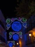 Decoraciones de la Navidad en la ciudad de Nerja España Foto de archivo
