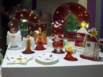 Decoraciones de la Navidad en la ciudad de Nerja España Imagenes de archivo