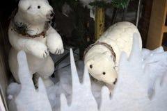 Decoraciones de la Navidad en la ciudad de Nerja España Fotografía de archivo libre de regalías