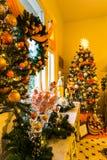 Decoraciones de la Navidad en la mansión de Pittock Fotos de archivo