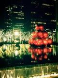 Decoraciones de la Navidad en New York City Fotografía de archivo libre de regalías