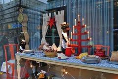 Decoraciones de la Navidad en Nordiska Kompaniet Fotos de archivo libres de regalías