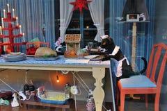 Decoraciones de la Navidad en Nordiska Kompaniet Foto de archivo libre de regalías