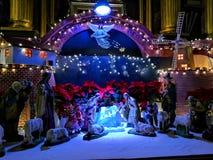 Decoraciones de la Navidad en Polonia foto de archivo