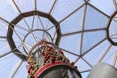 Decoraciones de la Navidad en Singapur Foto de archivo libre de regalías