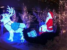Decoraciones de la Navidad en una alameda Fotografía de archivo