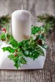 Decoraciones de la Navidad en una tabla Foto de archivo libre de regalías
