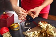 Decoraciones de la Navidad Floristst Imágenes de archivo libres de regalías
