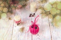 Decoraciones de la Navidad handmade Imagen de archivo libre de regalías