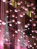 Decoraciones de la Navidad, Londres, Inglaterra Fotos de archivo