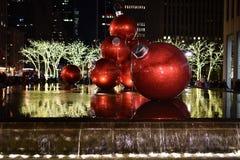 Decoraciones de la Navidad, Nueva York Foto de archivo