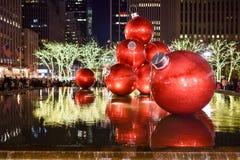 Decoraciones de la Navidad, Nueva York Fotografía de archivo