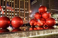 Decoraciones de la Navidad, Nueva York Imagenes de archivo