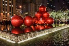 Decoraciones de la Navidad, Nueva York Fotos de archivo