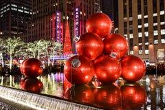 Decoraciones de la Navidad, Nueva York Imagen de archivo