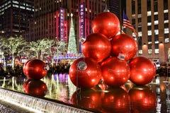 Decoraciones de la Navidad, Nueva York Fotos de archivo libres de regalías