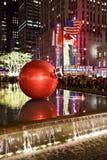Decoraciones de la Navidad, Nueva York Foto de archivo libre de regalías