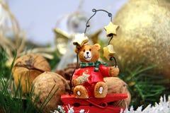 Decoraciones de la Navidad (oso) Imagen de archivo