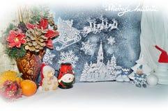 Decoraciones de la Navidad - tradiciones de la Navidad Imagenes de archivo