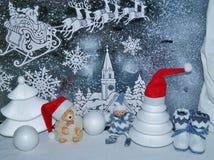 Decoraciones de la Navidad - tradiciones de la Navidad Imagen de archivo libre de regalías