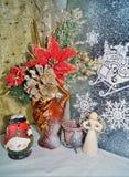 Decoraciones de la Navidad - tradiciones de la Navidad Foto de archivo libre de regalías
