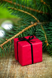 Decoraciones de la Navidad y árbol de abeto Fotografía de archivo libre de regalías