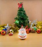 Decoraciones de la Navidad y del Año Nuevo Foto de archivo libre de regalías