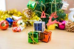 Decoraciones de la Navidad y del Año Nuevo Imagen de archivo libre de regalías