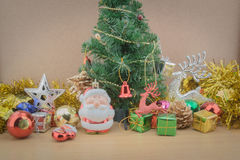 Decoraciones de la Navidad y del Año Nuevo Imagen de archivo