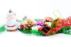 Decoraciones de la Navidad y del Año Nuevo Fotos de archivo
