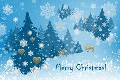 Decoraciones de la Navidad y del Año Nuevo: Abeto de Christmassy con sn fotografía de archivo libre de regalías