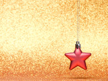 Decoraciones de la Navidad y del Año Nuevo en fondo del brillo Fotografía de archivo