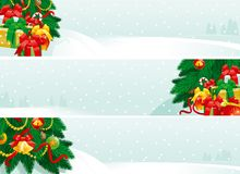 Decoraciones de la Navidad y regalos de la Navidad Foto de archivo
