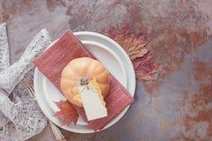 Decoraciones de la tabla de la acción de gracias Fotografía de archivo