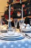 Decoraciones de la tabla del día de fiesta Imagen de archivo libre de regalías