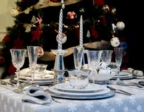 Decoraciones de la tabla del día de fiesta Imagen de archivo