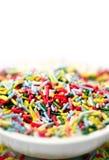 Decoraciones de la torta Fotografía de archivo libre de regalías