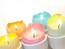 Decoraciones de la vela del huevo de Pascua Fotografía de archivo libre de regalías
