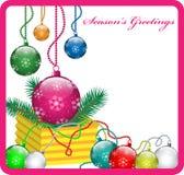 Decoraciones de las bolas de la Navidad Ilustración del Vector