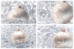 Decoraciones de las bolas de la Navidad Foto de archivo