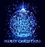 Decoraciones de las bolas de la Navidad Ilustración del vector Imagen de archivo