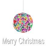 Decoraciones de las bolas de la Navidad Ilustración del vector Fotos de archivo