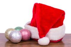 Decoraciones de los Años Nuevos y del árbol de navidad del casquillo Fotos de archivo libres de regalías