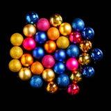 Decoraciones de los días de fiesta del ` s de la Navidad y del Año Nuevo Chri multicolor Foto de archivo